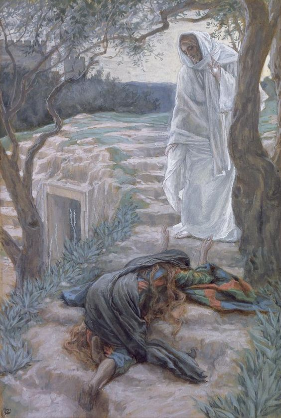 Noli Me Tangere by James Tissot {c.1886-94} ~ Jesus & Mary Magdalene {Touch Me Not, as per John 20:17}: