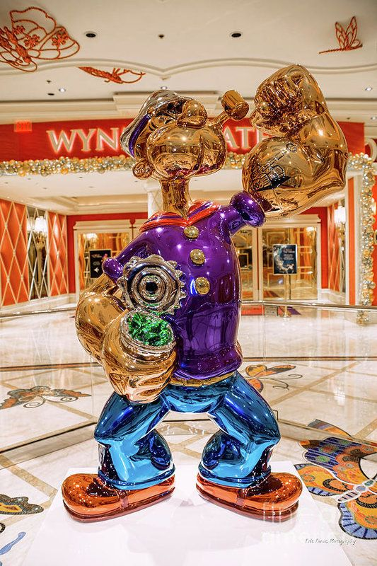 Wynn Popeye Statue By Jeff Koons Poster By Aloha Art All Posters