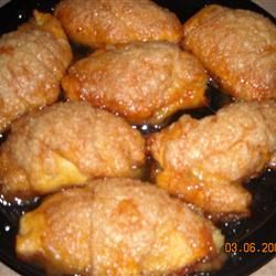 Apple Dumplings. How could it be that butter, sugar, and Mountain Dew could raise humble apples and crescent dough to marvelous heights??
