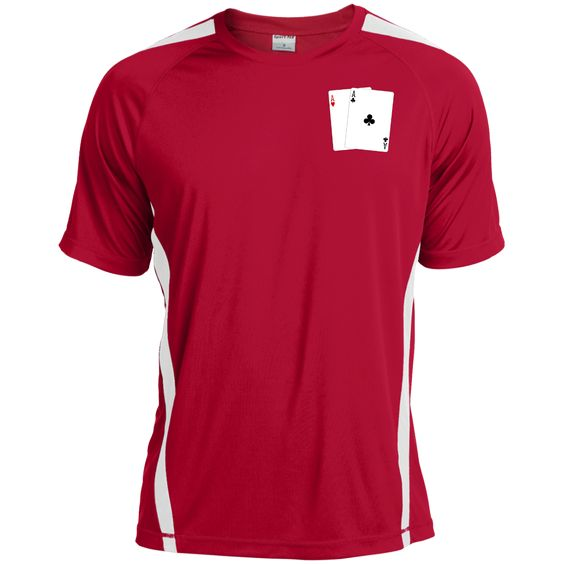 Colorblock Dry Zone Crew T-Shirt (Ah Ac on front)