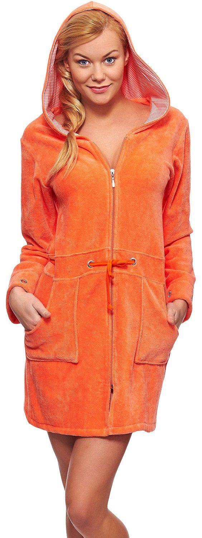 Merry Style Femme Peignoir de Bain avec Capuche et Zip Viki: Amazon.fr: Vêtements et accessoires