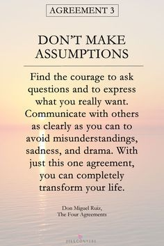 25 INSPIRING QUOTES FROM THE FOUR AGREEMENTS   Have you read The Four Agreements? Don Miguel Ruiz gives four principles as a guide to develop personal freedom and love, happiness, and peace. With these principles you tell yourself who you are, what you feel, and what you believe. With these agreements you can change your limiting beliefs. Click through to read the full article and download the free Four Agreements printables. Pin it now and share it with your friends.
