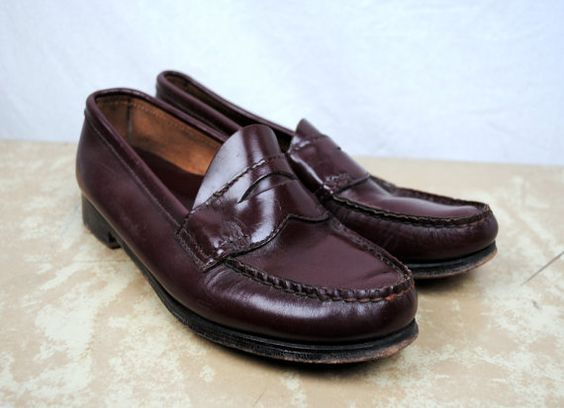 Vintage Bass Weejuns Penny Loafers - Size 6 1/2 B