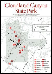 Hiking trails of Cloudland Canyon State Park