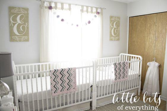 Twin Girls Nursery - #nursery #twins