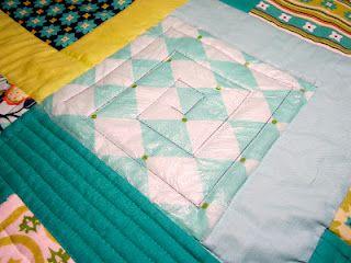 Machine quilting using Press 'n Seal kitchen wrap