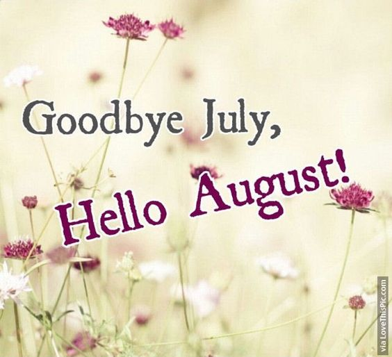 Goodbye July Hello August months month august hello august august quotes goodbye…