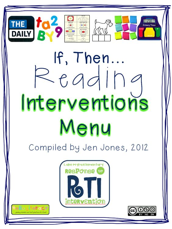 """if a child struggles with ___, then....."" :: Hello Literacy: RTI: ""If, Then"" Reading Interventions Menu # Pin++ for Pinterest #"