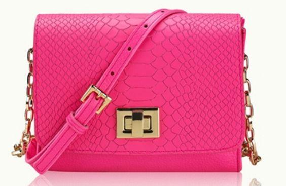 Hot Pink Python Crossbody