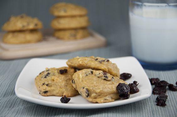 Honeyed Banana Berry Cake Cookies.  Only 4 ingredients!