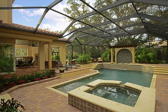 Large Screened In Pool Area From Sabal Homes Tradewinds II At