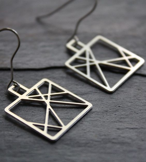 Steel Criss-Cross Earrings