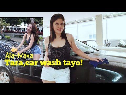 Tara Car Wash Tayo Ala Ivana Ivanaalawi Youtube In 2020 Car Wash Wash Car