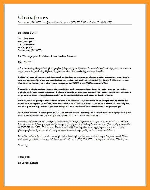 30 Photography Cover Letter Sample In 2020 Cover Letter Sample