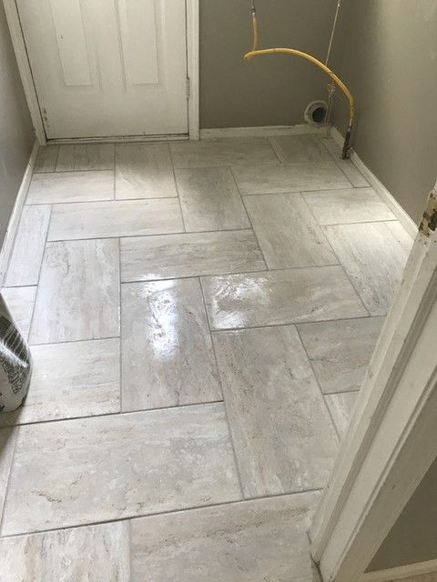 Travertino Grey Ceramic Floor Tile 12 X 24 In The Tile Shop Ceramic Floor Tile Ceramic Floor The Tile Shop