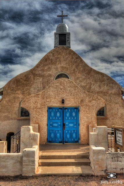 Catholic Church in San Ysidro New Mexico by Jim Crotty