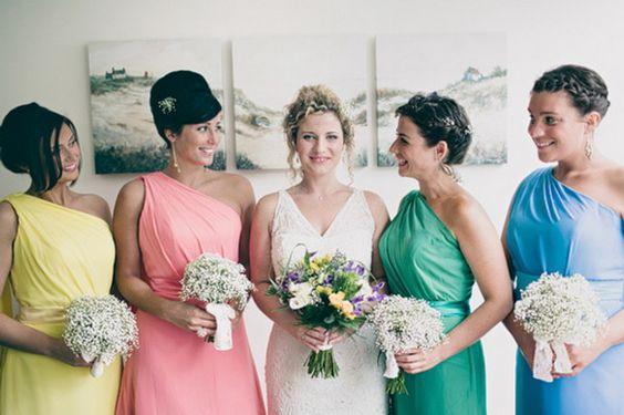 Contemporary Retro Brights V�s Vintage Pastel Rainbow Wedding Ideas
