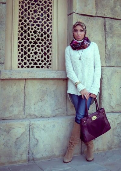 Converse Blanche Style Hijab