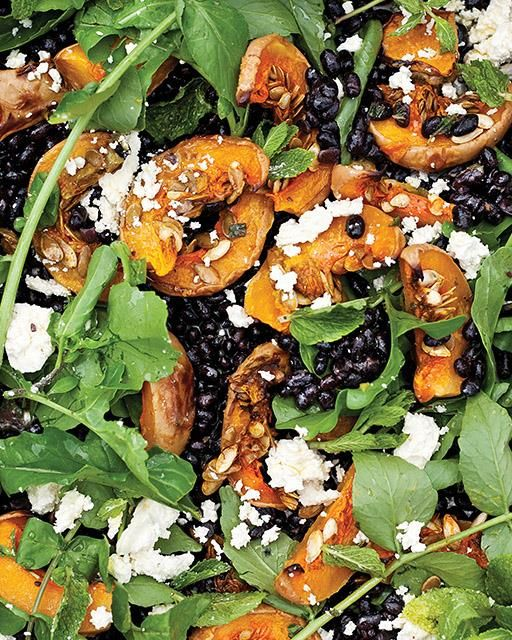 Feta salad, Roasted butternut squash and Roasted butternut on ...
