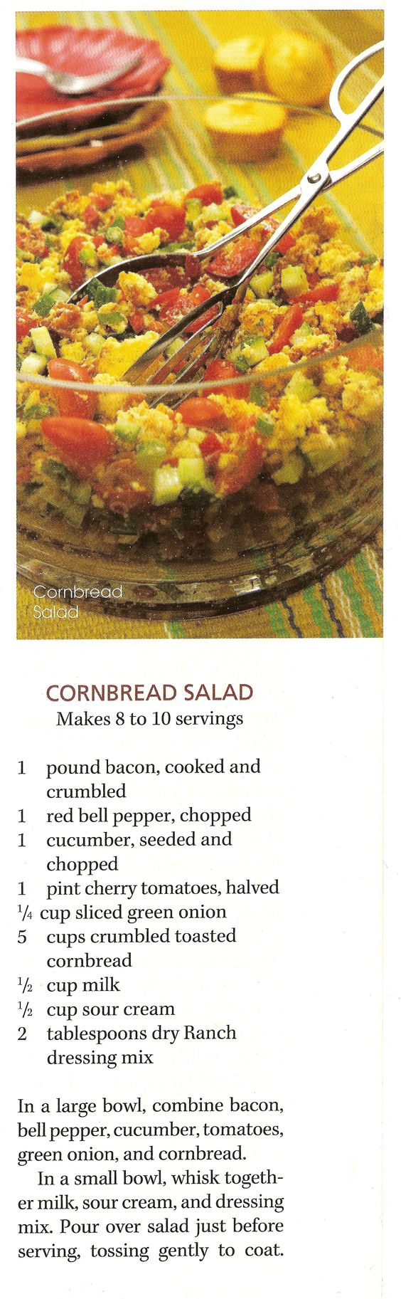 Paula Deen's Cornbread Salad