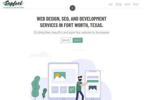 Web Design Fort Worth Texas Supfort Com In 2020 Web Design Fort Worth Texas Web Design Company