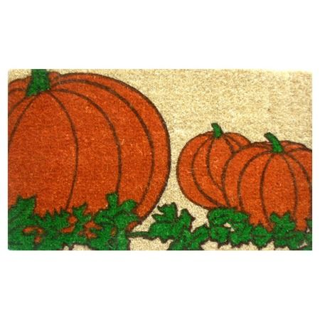I pinned this Pumpkin Doormat from the A Warm Welcome event at Joss and Main!