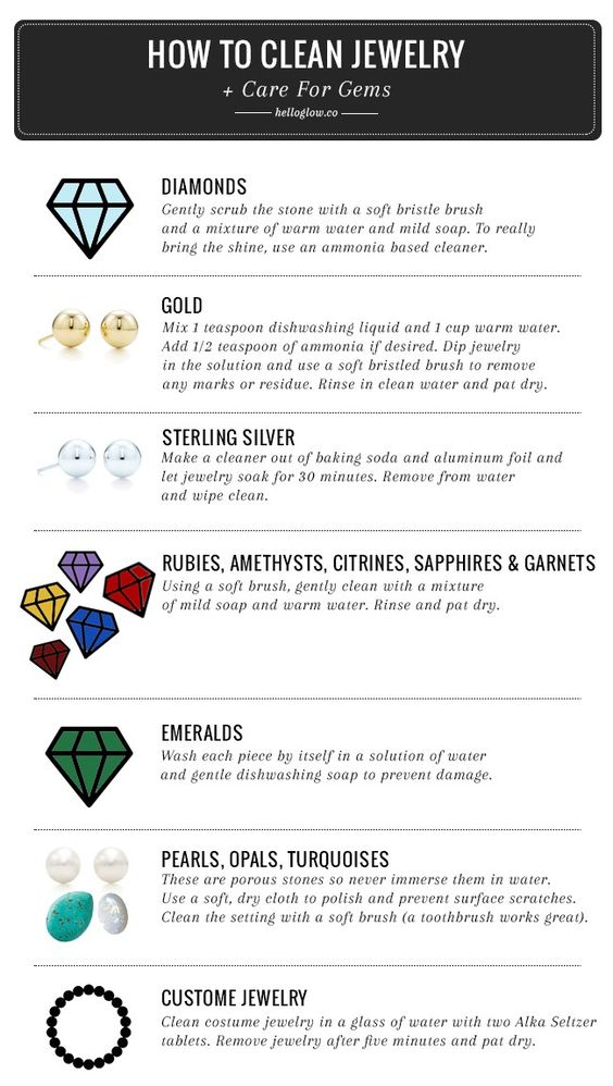 A DIY Guide to Cleaning Jewelry + Caring for Gems | Hello Glow