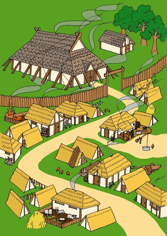 An Anglo-Saxon village, full of tradesmen & craftsmen - © Nash Ford Publishing