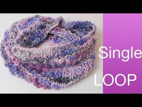 Singleloop Stricken Einfacher Loopschal Fur Anfanger Youtube