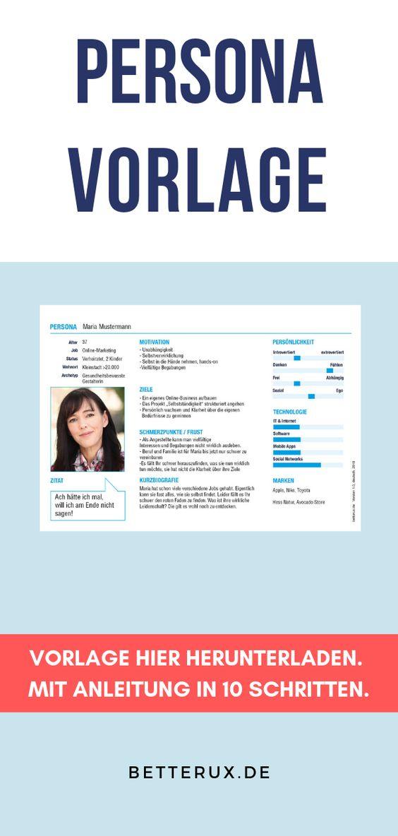 Wunschkunden Persona Erstellen Better Ux Understands And Creates Steckbrief Erstellen Persona Vorlagen
