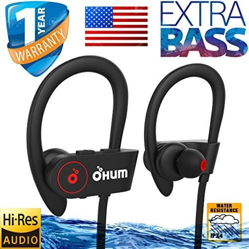 Ohumlabs Bluetooth Earphone 8hrs Earhook Extrabass Mobile Headset Best Sporty Youth Edition Good Battery Black Headphones Wired Headphones Headphone With Mic