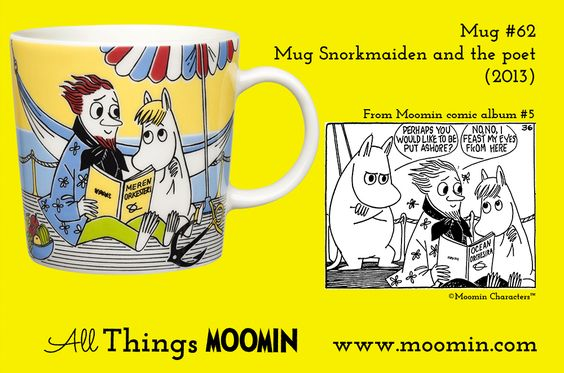 62 Moomin mug Snorkmaiden and the poet