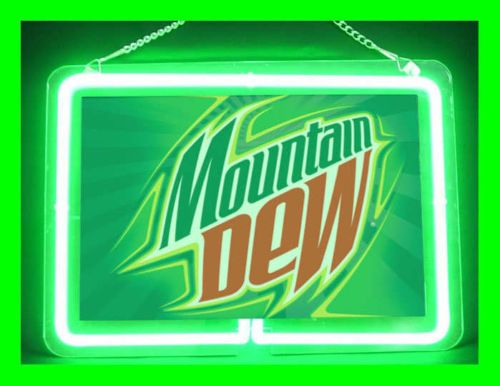 Neon 480 Mountain Dew Beer Bar Display Neon Sign Man Cave Happy Hour Party Time | eBay ...