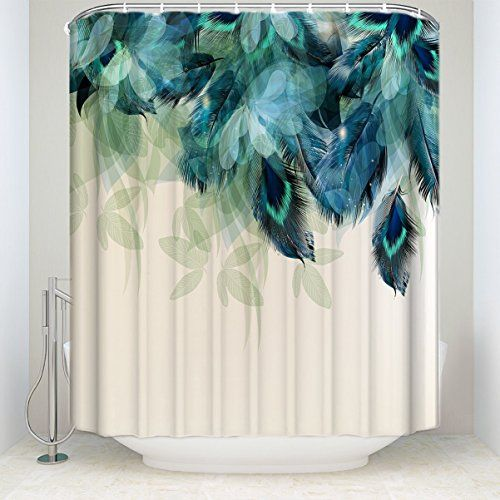 Prime Leader Watercolor Decor Shower Curtain Peacock Feat Https
