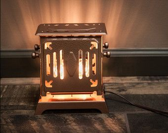 Antique Electric Toaster Upcycled into custom copper accent lamp, handmade lighting, vintage steampunk - @ Now That's A Bright Idea (ashleymonney.com)