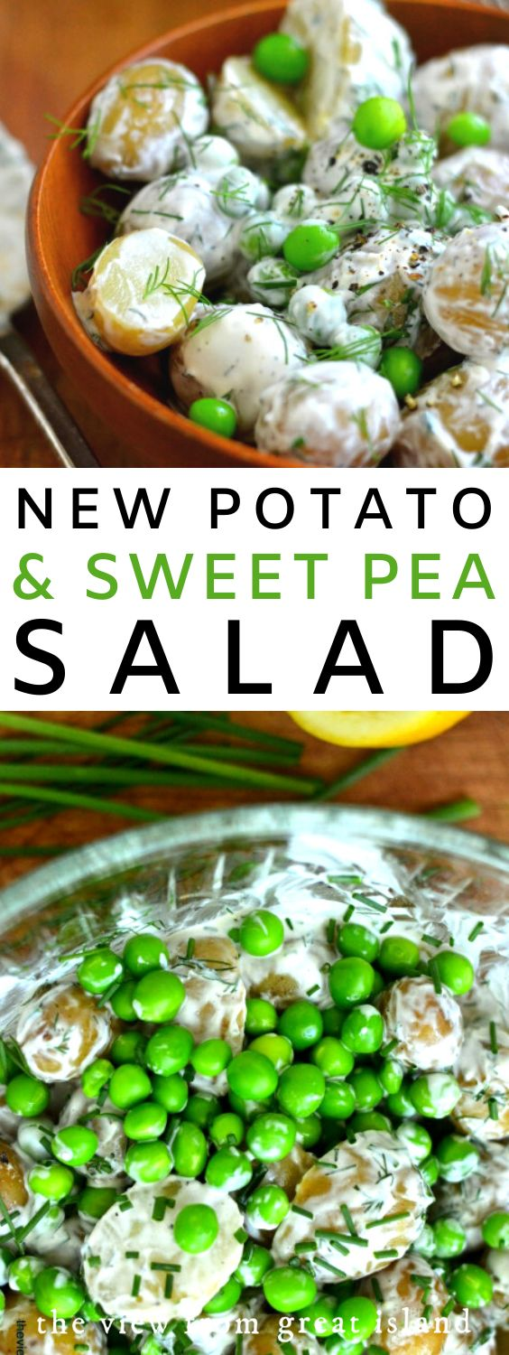 Potato and Garden Pea Salad!
