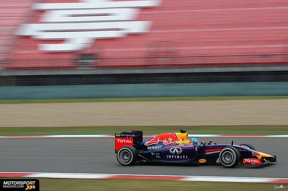 Formel 1 2014, China GP, Shanghai, Sebastian Vettel, Red Bull, Bild: Sutton