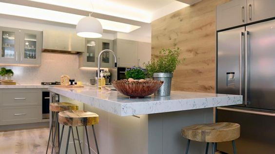 cocina mesa marmol