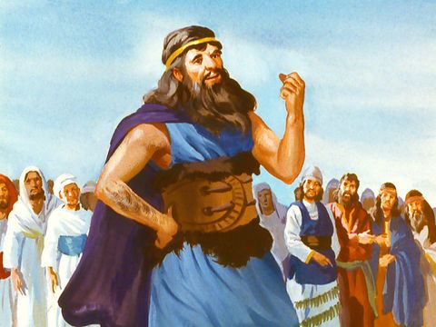 Freebibleimages Elijah And The Prophets Of Baal Elijah Has A Contest With The Prophets Of Baal On Mount Carmel 1 Kings 16 29 Elijah Bible Heroes Prophet