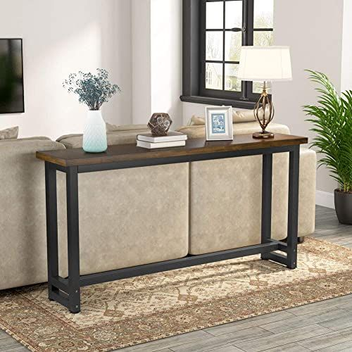 New Tribesigns 70 9 Inches Extra Long Industrial Sofa Table Wood Behind Couch Table Rustic Console Table Living Room Entryway Narrow Pub Bar Table Home In 2020 Console Table Living