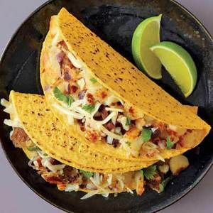 Spicy Potato Tacos   http://www.rachaelraymag.com/Recipes/rachael-ray-magazine-recipe-search/dinner-recipes/spicy-potato-tacos
