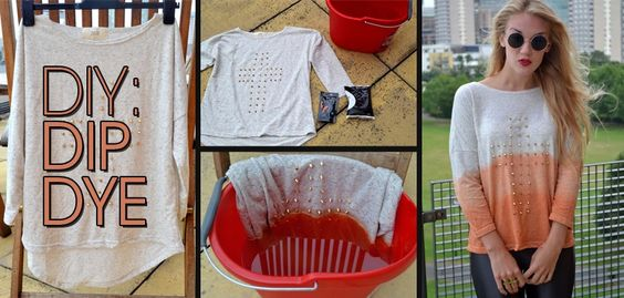 Rosieglow shows us how to dip dye our studded jumper. Check out our guide here: http://blog.boohoo.com/post/30027347611/diy-dip-dye-jumper