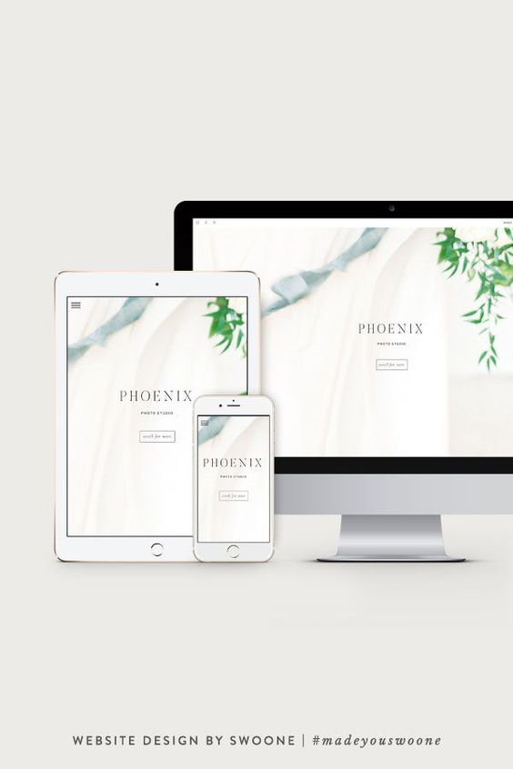 Phoenix Website Template For Photographers By Swoone Showit Showit Website Design Showit Website Custom Website Design Custom Web Design Website Template