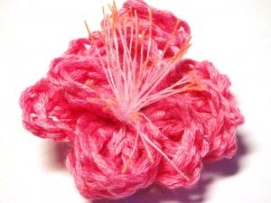 CROCHET PATTERNS (Pattern #26 Pink Cherry Blossom) -Crochet & Knit Design Heaven