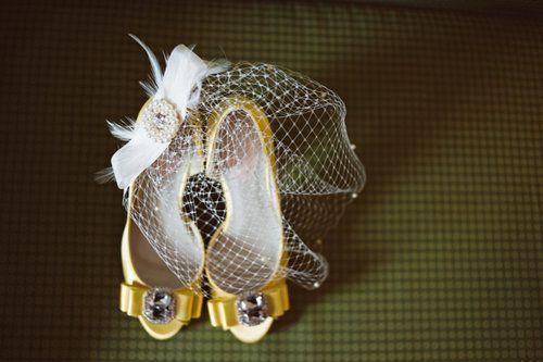 Brautschuhe in Gelb