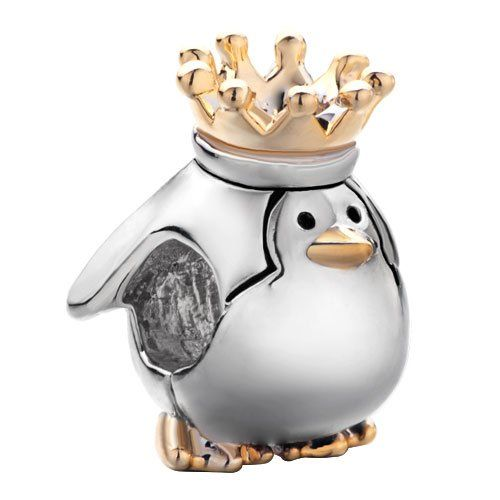 TOPSELLER! Pugster Cute Penguin King Charm Beads Fit Pandora Charm Bead Bracelet $12.49