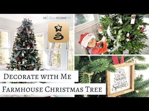 Decorate My Farmhouse Christmas Tree With Me And Twinkly Youtube Farmhouse Christmas Tree Farmhouse Christmas Christmas Tree