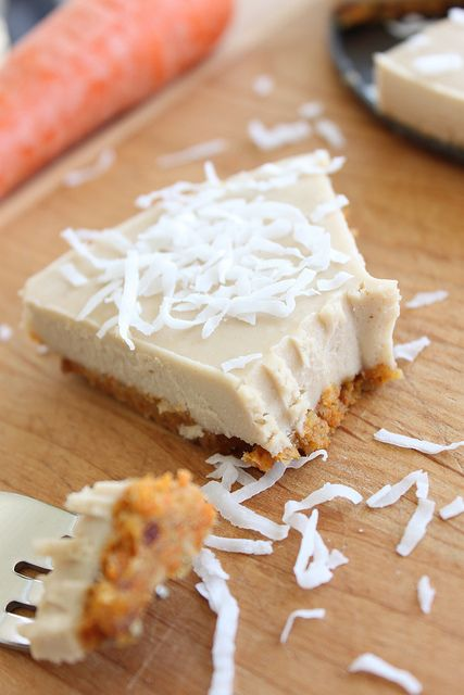 No Bake Raw Carrot Cake Coconut Cream Pie (Dates, Walnuts, Cashews, Coconut Milk, Maple Syrup) | The Diva Dish