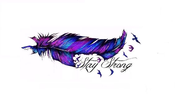 My feather tattoo design <3 Stay strong birds tattoo <3