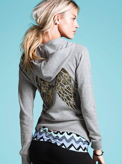 Graphic Fleece Hoodie Supermodel Essentials